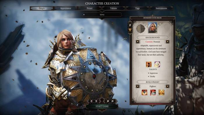 divinity 2 character creation