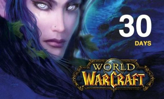 World of Warcraft Time Card 30 Days Battle net NORTH AMERICA