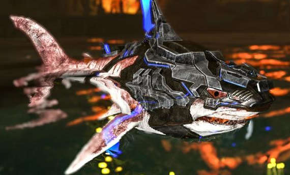 Sharks can shoot lasers thanks to a recent ARK update