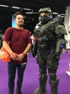 Master Chief cosplay on gamescom 2018
