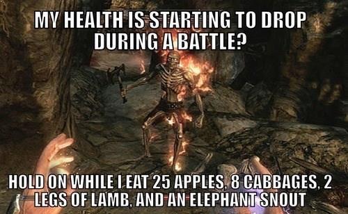 skyrim healing food