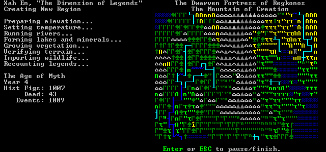 dwarf fortress world generation