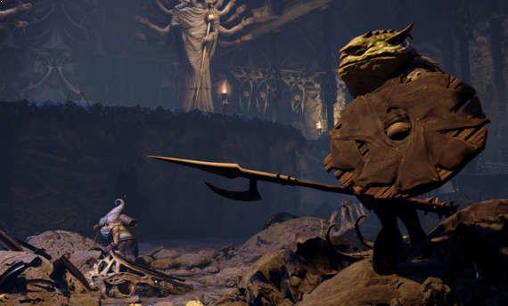 Take a look at combat in Bard's Tale IV