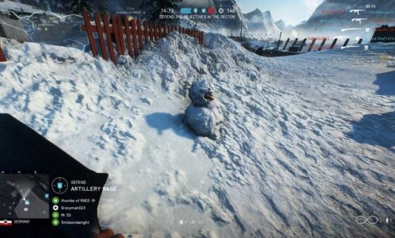Battleifled V Snowman