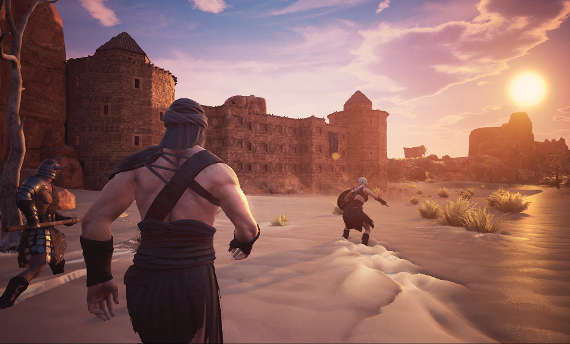 Conan Exiles is about building and huge creatures destroying homes
