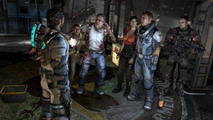 Soldiers in Dead Space 3