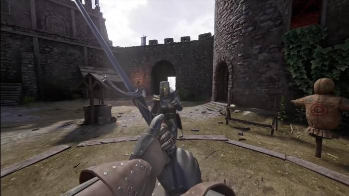 Mordhau video game pommel throw