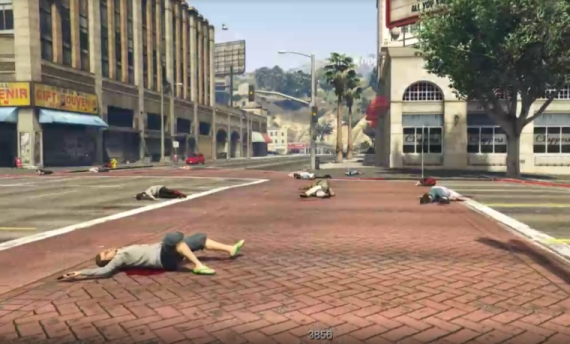 GTA V is being used in a performance piece about gun violence