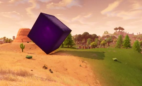 fortnite purple cube is rolling