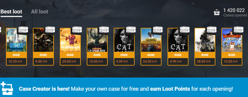 G2A loot points