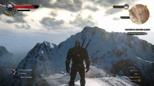 witcher 3 geralt mountains