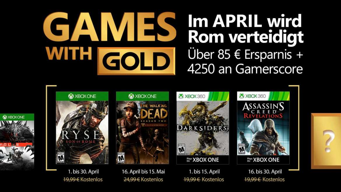 Games with Gold - April 2017