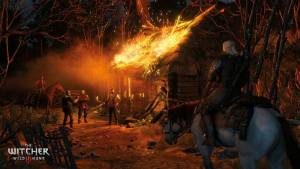 Witcher 3 - the fire