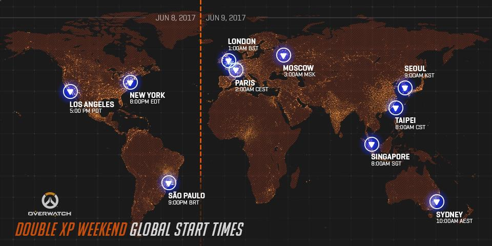 Double XP event start times