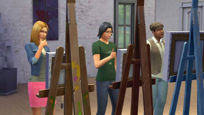 sims 4 painting lesson