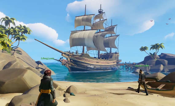 Sea of Thieves encourages cooperative behaviour