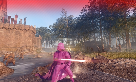 pink darth vader in star wars battlefront 2