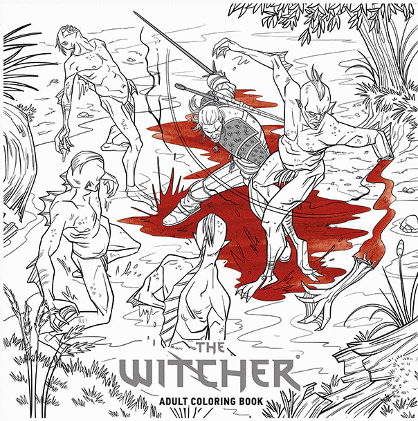 Witcher 3 colouring book
