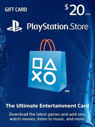 PlayStation Network 20 USD Gift Card