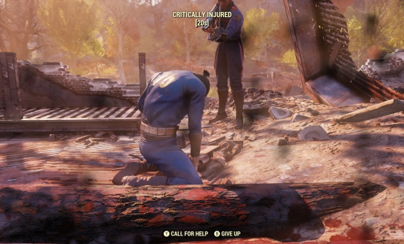 Player begs Bethesda to kill their character in Fallout 76