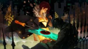 Transistor game graphics scene