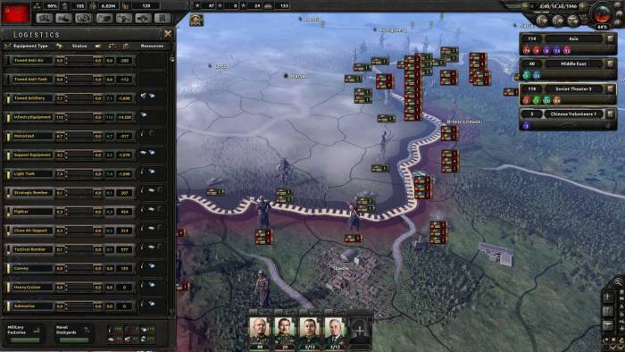 Hearts of Iron game interface