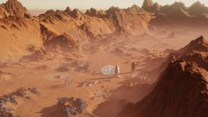 Surviving Mars colony video game