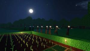 night in colony Stonehearth