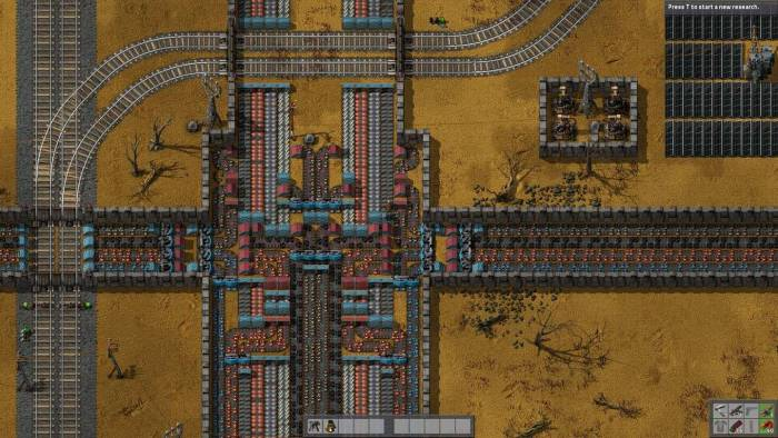 Factorio railway