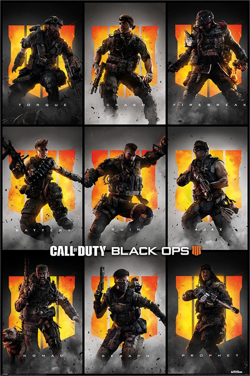 CoD Black Ops Characters Poster