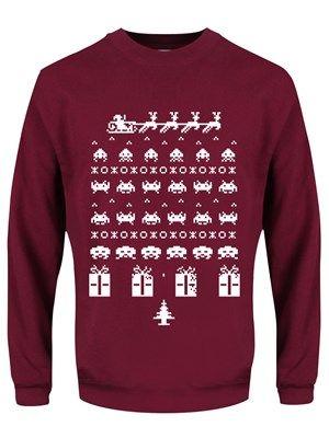 Gamers Christmas Jumper Burgundy