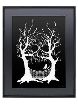 Hidden Skull Gloss Black Framed Poster