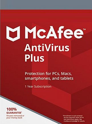 McAfee AntiVirus Plus 1 Device 1 Year PC