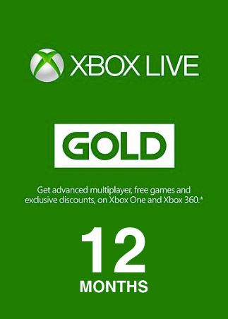 Xbox Live GOLD Subscription Card 12 Months
