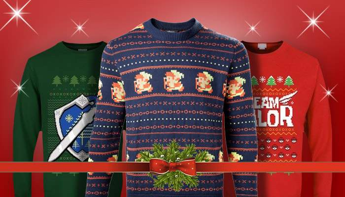 gaming christmas sweaters