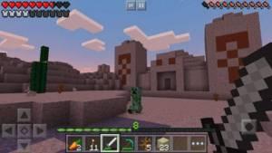 Minecraft zombie and sword