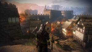 the witcher ii burning city