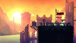 dead cells roguelike game sunset castle