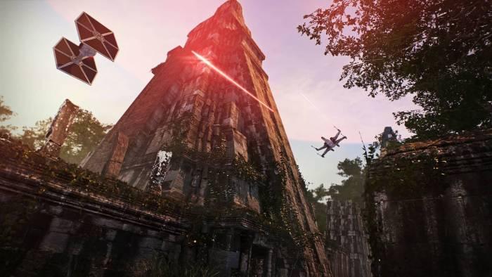 star wars battlefront 2 tie fighter x-wing battle