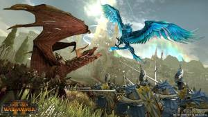 total war 2: warhammer dragon vs giant bird