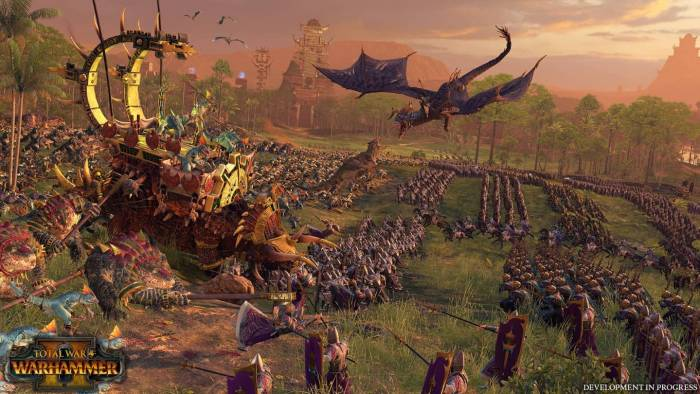 total war 2: warhammer triceratops riding army