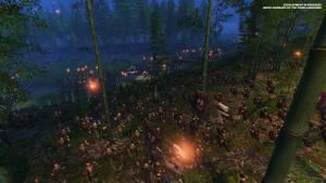 total war three kindoms forest battle