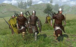 mount and blade warband soldiers running