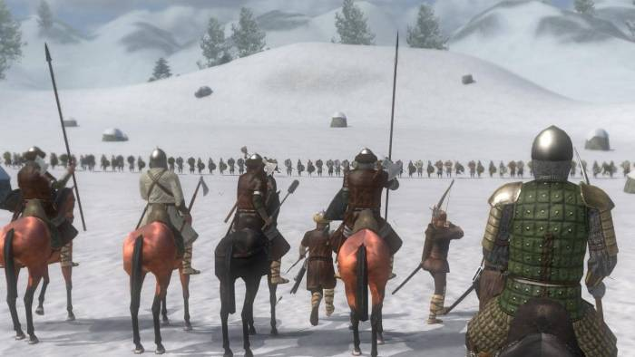 mount and blade warband winter battle