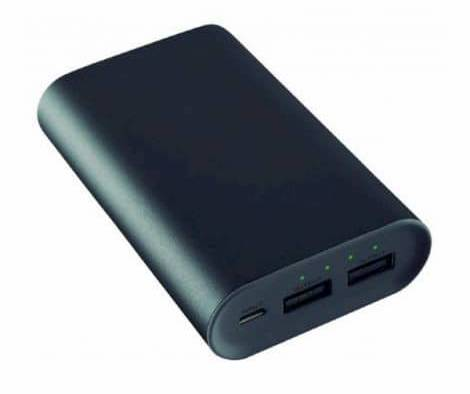 Power Bank KSIX 2 X USB 6000 mAh 5 V 2 A Black Metallic