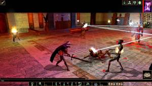 Fighting in D&D Neverwinter game