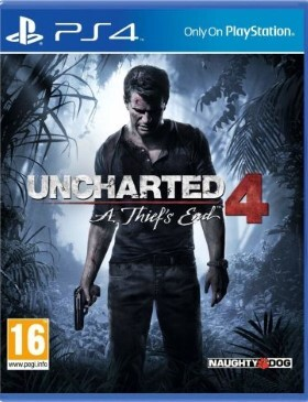 Uncharted 4 A Thief's End box cover