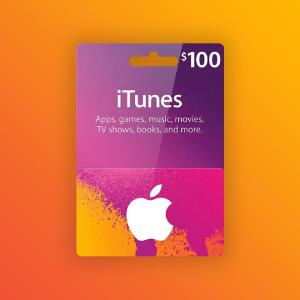 Apple iTunes Gift Card 100 USD United States