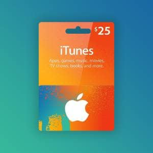 Apple iTunes Gift Card 25 USD NORTH AMERICA