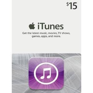 Apple iTunes Gift Card NORTH AMERICA 15 USD